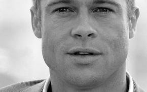 Обои Brad Pitt, серый, Брэд Питт