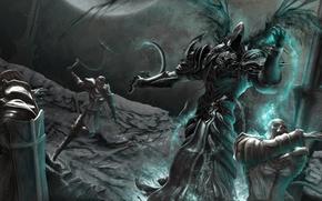 Картинка art, diablo 3, Angel, Malthael