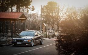 Картинка тюнинг, BMW, диски, stance, E36, Bimmer