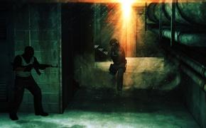 Картинка мрак, контр страйк, counter-strike, смок, тер, контр, пыль, дым, темнота, засада, css, cs:go, 1.6, подвал, ...