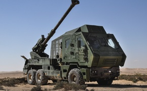 Картинка гаубица, Tatra, Шасси, Howitzer, Truck-Mounted, 155mm/52 caliber