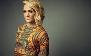 Картинка музыка, фон, макияж, прическа, блондинка, наряд, певица, Carrie Underwood, фотосессия, кантри, Кэрри Андервуд, Robby Klein, …