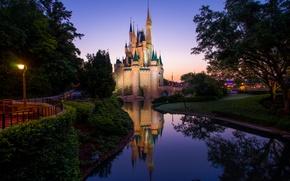 Картинка замок, Утро, Morning, Magic Kingdom, Волшебное Королевство