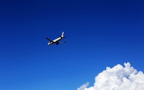 Картинка небо, полёт, самолёт