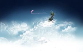 Картинка небо, острова, облака
