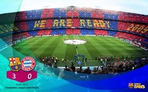 Картинка wallpaper, sport, stadium, football, Camp Nou, FC Barcelona, UEFA Champions League