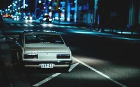 Картинка ночь, улица, night, street, datsun, датсун