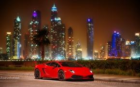 Картинка car, Lamborghini, red, Gallardo, Dubai, LP570-4, Super Trodeo Stradale
