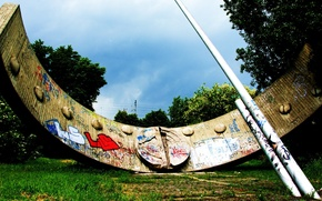 Картинка лето, макро, граффити, солнечные часы