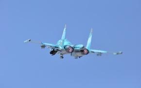 Обои защитник, фронтовой, Су 34, бомбардировщик, Fullback, взлет