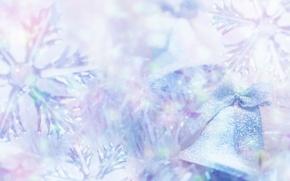 Обои мороз, колокольчик, праздник, снежинки