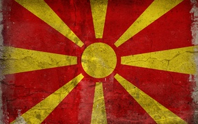 Обои цвета, флаг, македония