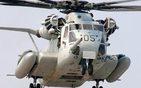 Картинка винты, взлет, пилоты, Сикорский, Super, Stallion, CH-53