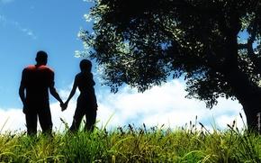 Обои любовь, пейзаж, природа, чувства
