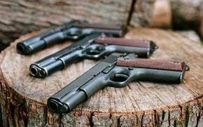 Картинка оружие, фон, пистолеты, 1911, Colt