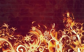 Картинка цветы, огонь, пламя, абстракт, горят