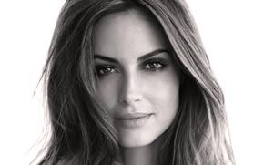 Обои глаза, лицо, фон, widescreen, черно-белый, обои, Девушка, wallpaper, красивая, fashion, eyes, широкоформатные, beautiful, background, face, ...
