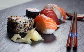 Картинка палочки, еда, суши
