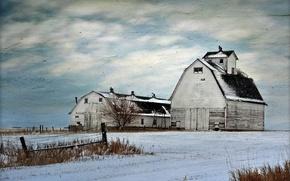 Картинка стиль, ферма, фон, поле, пейзаж
