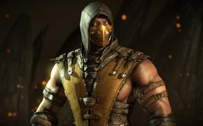 Картинка Scorpion, ninja, Mortal Kombat 10, Mortal Kombat x