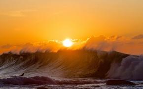 Картинка море, спорт, утро, ворлна