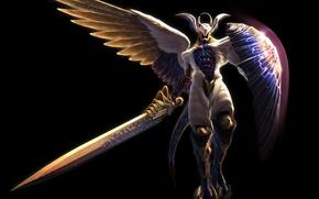 Картинка ангел, меч, Devil May Cry 4, Credo