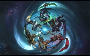 Обои Heroes of the Storm, Illidan Stormrage, ангел, diablo, Warcraft, охотник, starcraft, девушка, Valla, nova, Demon ...