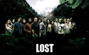 Обои сериал, актеры, остров, lost