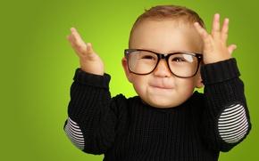 Картинка глаза, дети, улыбка, стиль, ребенок, малыш, очки, style, smile, смешно, child, funny, Happy, children, kid, …