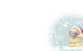 Картинка зима, снег, настроение, арт, мишка, детская, Forever Friends Deckchair bear