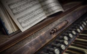 Картинка ноты, музыка, орган