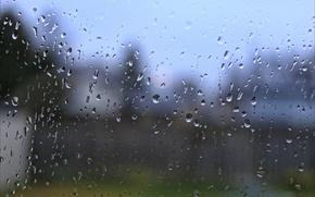 Картинка вода, капли, дождь, цвет