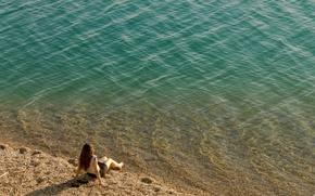 Картинка море, вода, девушка, берег