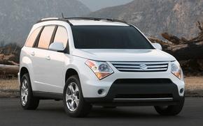Картинка белый, джип, Suzuki, XL7