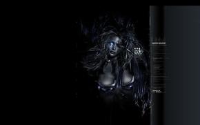 Обои девушка, темно, арт