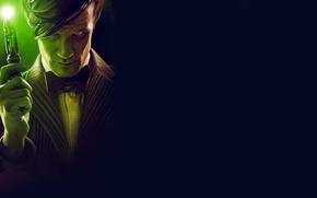 Картинка взгляд, фон, арт, Doctor Who, Доктор Кто, Мэтт Смит, Matt Smith, Одиннадцатый Доктор, звуковая отвертка, …