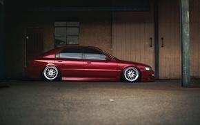 Картинка тюнинг, профиль, red, Honda, Accord, красная, хонда, аккорд, stance