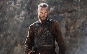 Картинка взгляд, борода, викинг, vikings, вони, travis fimmel, Ragnar Lodbrok