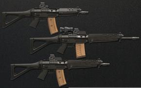 Картинка gun, weapon, weapons, rifle, assault rifle, Sig Sauer 556, Sig Sauer, Swiss rifles