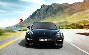 Картинка горы, Porsche, Panamera, порше, панамера, 2015