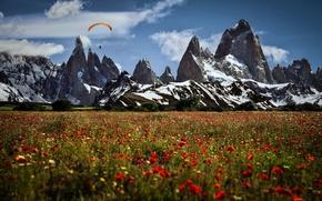 Картинка пейзаж, горы, спорт