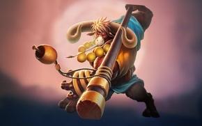 Картинка посох, минотавр, MOBA, герой, Strife