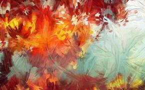 Обои абстракция, краски, кисть