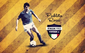 Картинка нападающий, итальянский футболист, Паоло Росси, Paolo Rossi