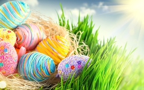 Картинка яйца, colorful, пасха, happy, разноцветные, spring, Easter