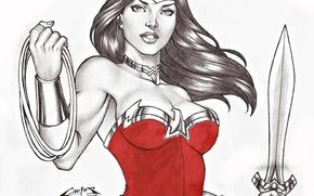 Картинка Wonder Woman, DC Comics, Диана, Diana, Чудо-женщина, Амазонка