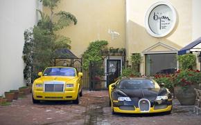 Обои phantom, Bugatti, veyron, coupe, drophead, tuning, rolls-royce