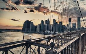 Картинка USA, New York, NYC Brooklyn Bridge