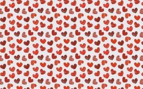 Картинка праздник, клетка, сердечки, валентинка