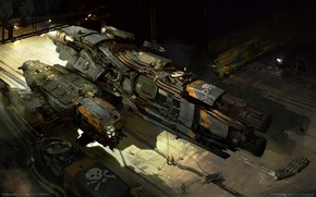 Обои Dreadnought, пираты, корабль, game wallpapers, фантастика, космос